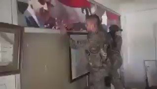 Footage: Asayish forces destroying posters of Assad in Hasakah today.