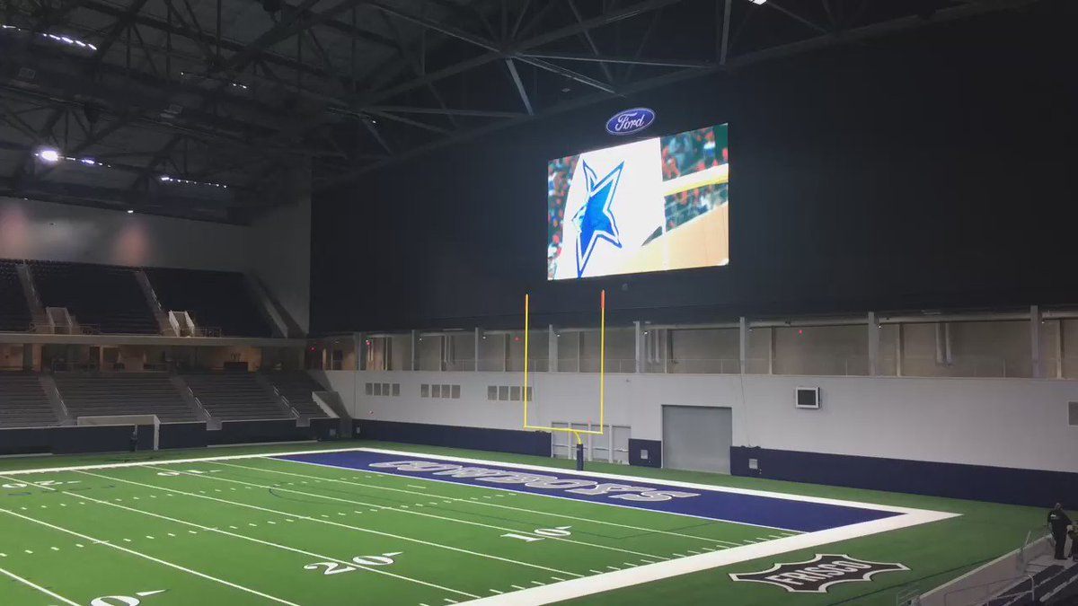 Here's a look at The Ford Center, the 12,000 seat stadium where Cowboys will practice, Frisco HS teams will play. https://t.co/fmq2yWr13V