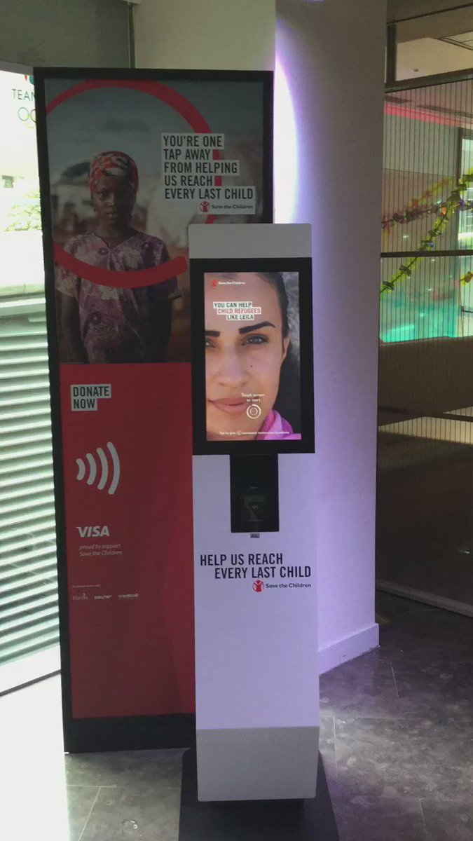 Here's a video of that @savechildrenuk contactless donation station in use https://t.co/Ea0EpyfTFo