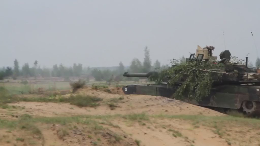 Abrams tank live fire in Latvia, courtesy of 3-69 Armor, @1ABCT_3ID Soldiers. #EuropeStrong @USArmyEurope https://t.co/sEKiQhuhp6