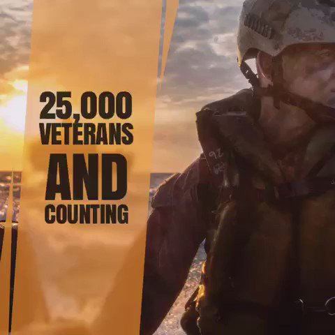 We've placed 25K #vets into good jobs thanks to @Activision & YOU! Help us reach our new goal of 50K by 2019! https://t.co/8HVbQZuaPi