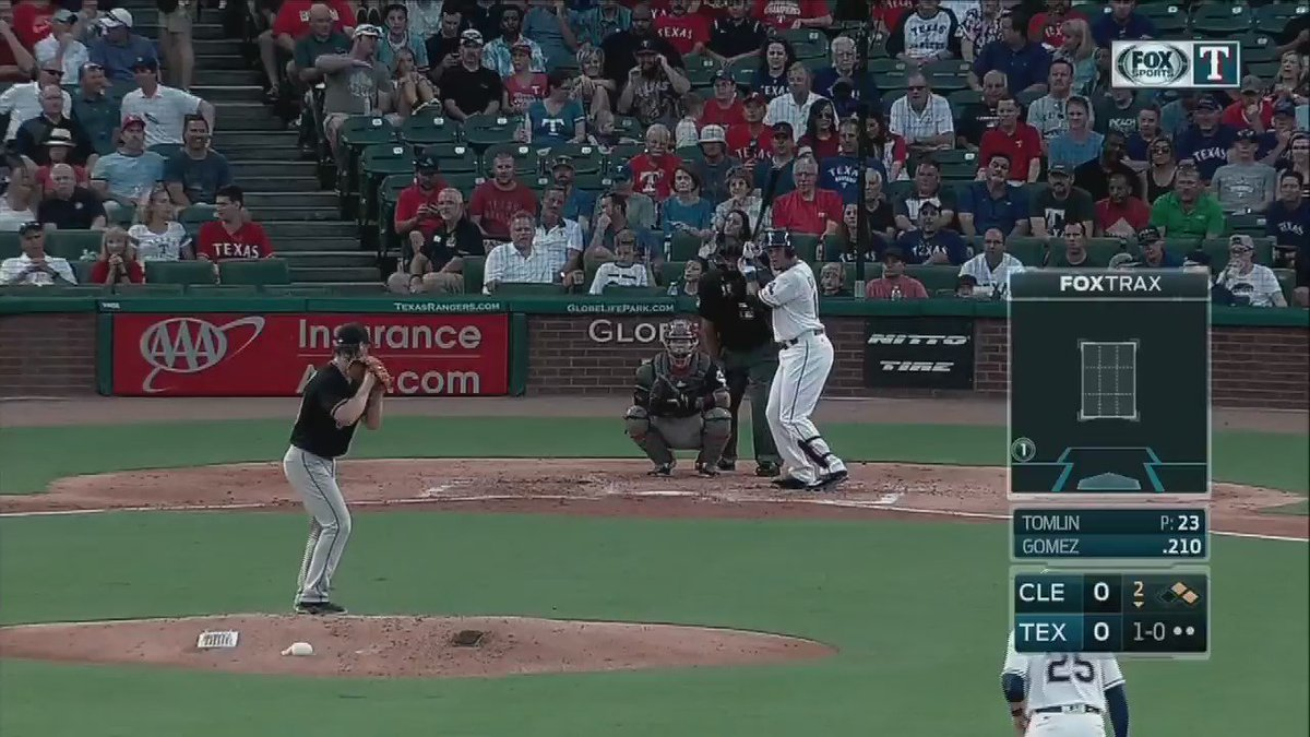 First at-bat as a Ranger for @RealCarlosGomez ? How 'bout a 3-run homer.Rangers MLB