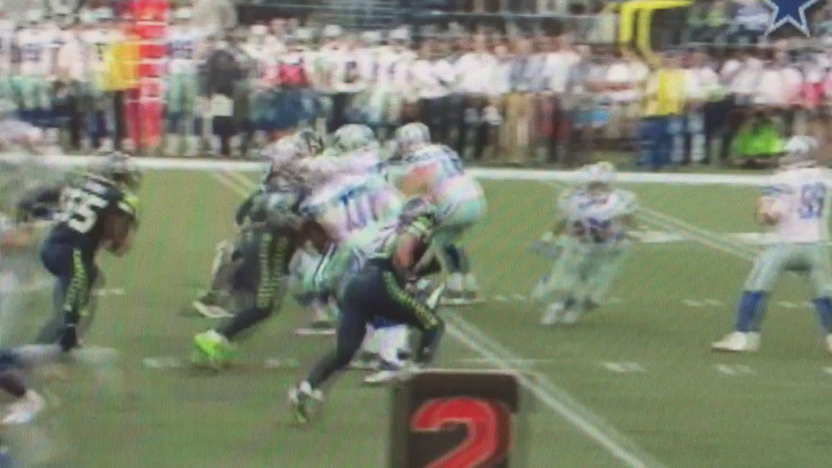 Here's a replay of Romo getting hit
