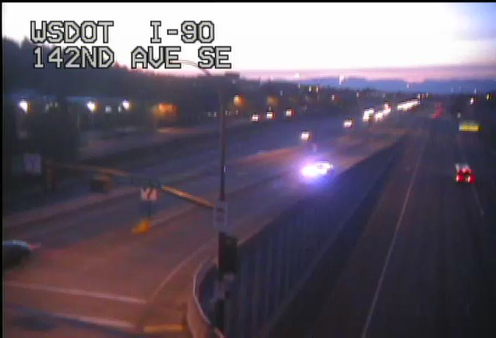 On the 142nd Ave SE on-ramp to eastbound I-90 there's an incident partially blocking the ramp