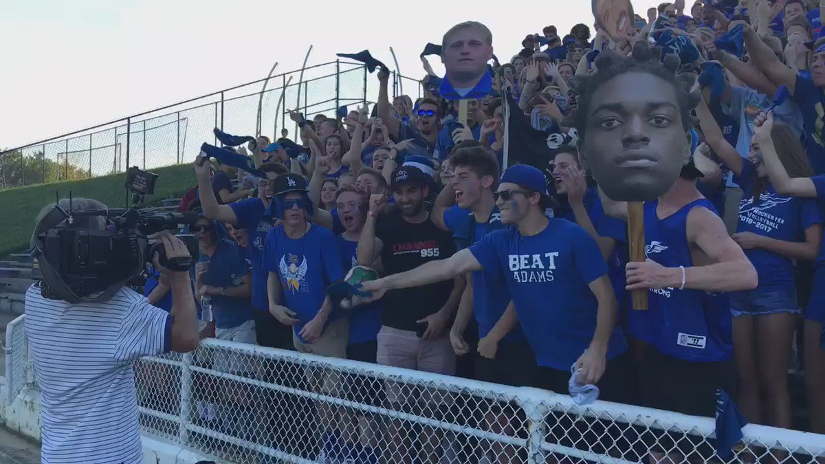 Super hype start to the 955HighSchoolTakeover with the Rochester student section live on @wxyzdetroit w @BradGalli