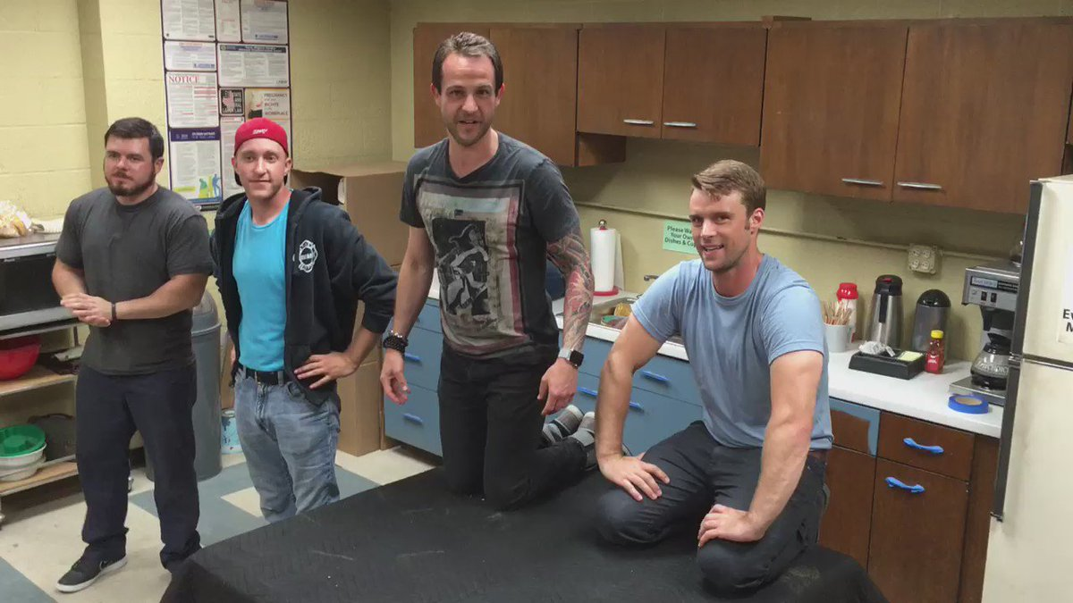 Day 8 of 22 push-ups with @Jesse_Spencer Nick Klein Mike Hanley surprise guest @NatalieAlynLind #22PushupChallenge https://t.co/M1wJkWxD51