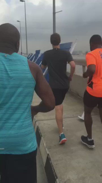 Video of run with Mark Zuckerberg #ZuckInLagos https://t.co/Cht3rGpsXo