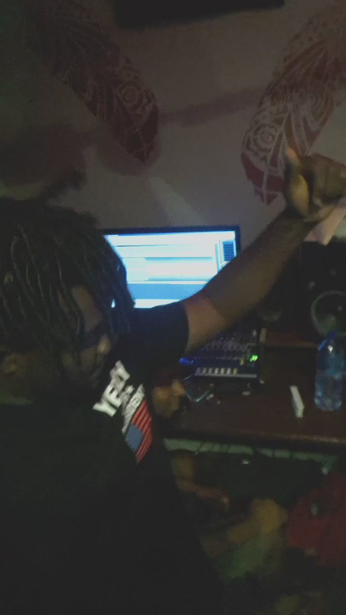 Somewhere in North K @lord_PaperMMC ..  sorry Adabraka Lord Paper is in the studio mixing his new single