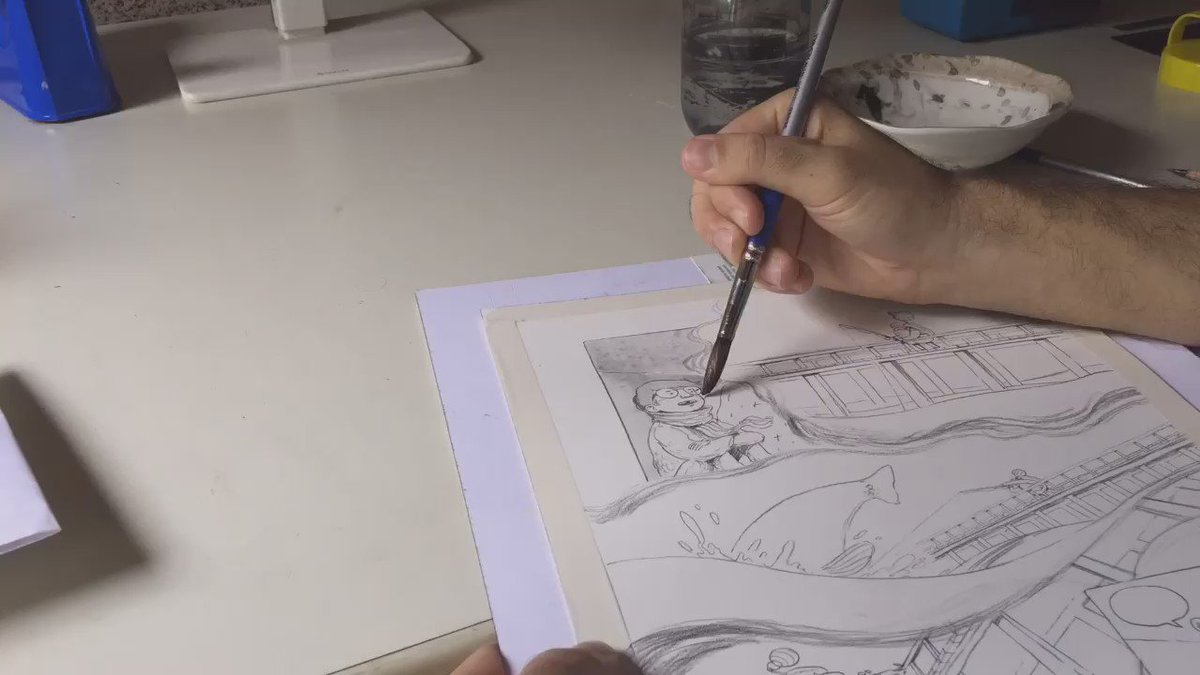 I made a quick time lapse video of my drawing process. https://t.co/yADHb73mcY