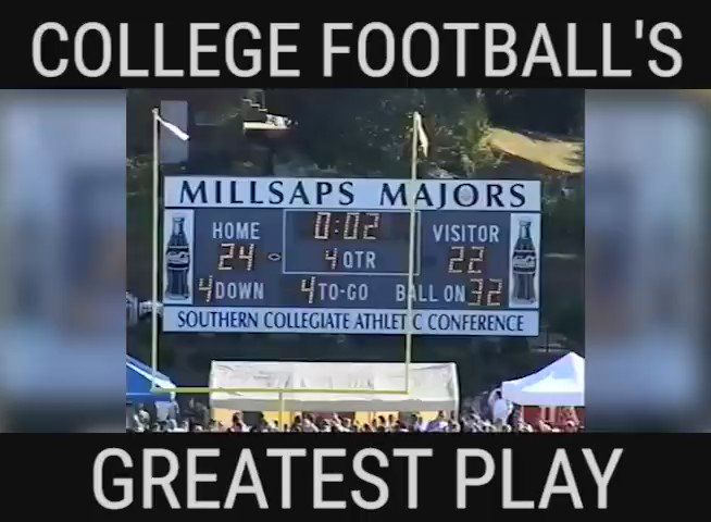 The greatest play in college football happened in a '07 @TUFootballTX vs. Millsaps game. Saturday, they square off! https://t.co/4jzAcYFtzc