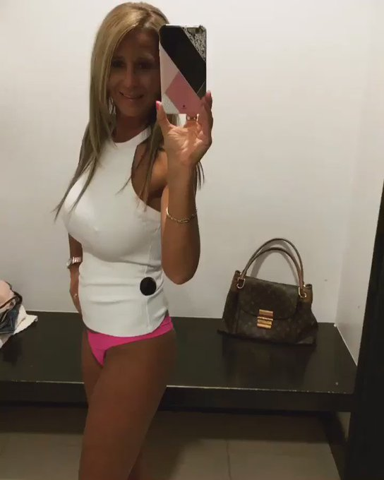 One more #AinsleeVid. #ainsleeass #ainsleehot #roundass #pinkpanties #thong #tinyandtight #milf #smokinhot
