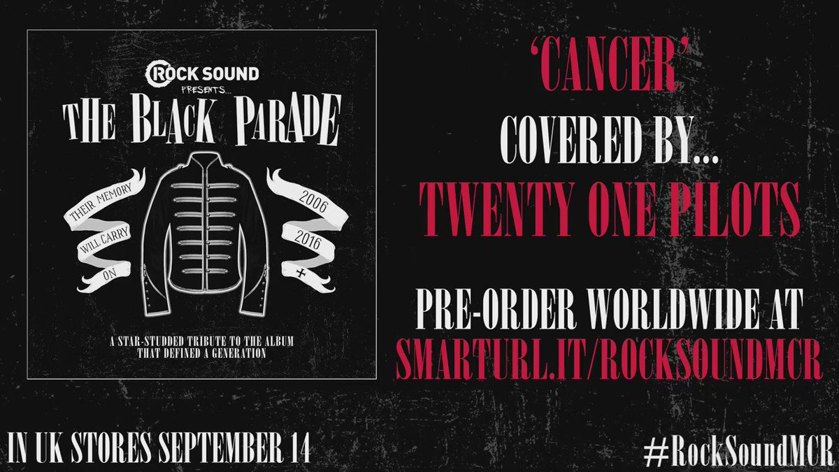 'Cancer' Covered by @twentyonepilots Order the full CD + magazine WORLDWIDE: https://t.co/H9B8saAf2a #RockSoundMCR https://t.co/jsEw1Qz1kr