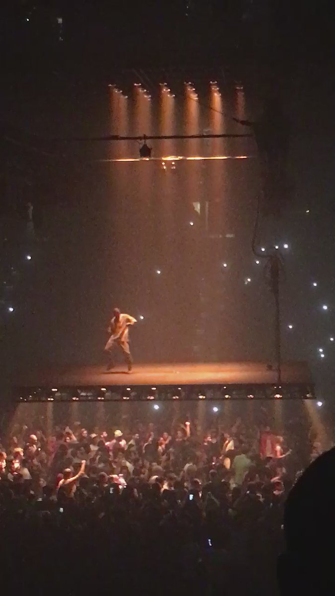 After 'dissin @KidCudi, @kanyewest is on top of the world, and the crowd. Literally.