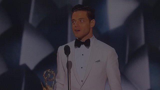 #MrRobot is a show I hope you're watching. @ItsRamiMalek kills it #Emmys @gittlebass https://t.co/UuY9vVD6Be