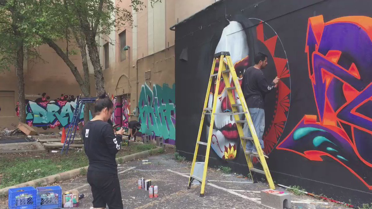 150 graffiti artists from all over the country have descended on Midtown. I'll explain what they're doing on KHOU11