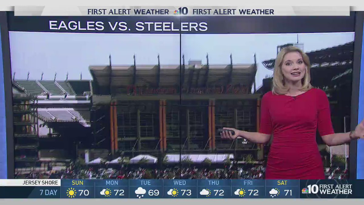 Our own @KrystalKlei has your @Eagles tailgating & game forecast