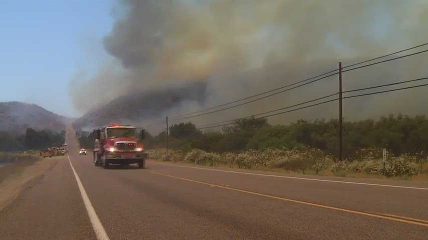 HAPPENING NOW: SantaAna winds increase threat of wildfires in San Diego County. How you can prepare NBC7