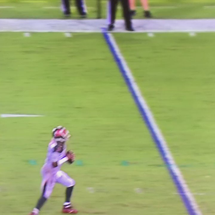 Jameis was 8 yards down the field still looking to throw