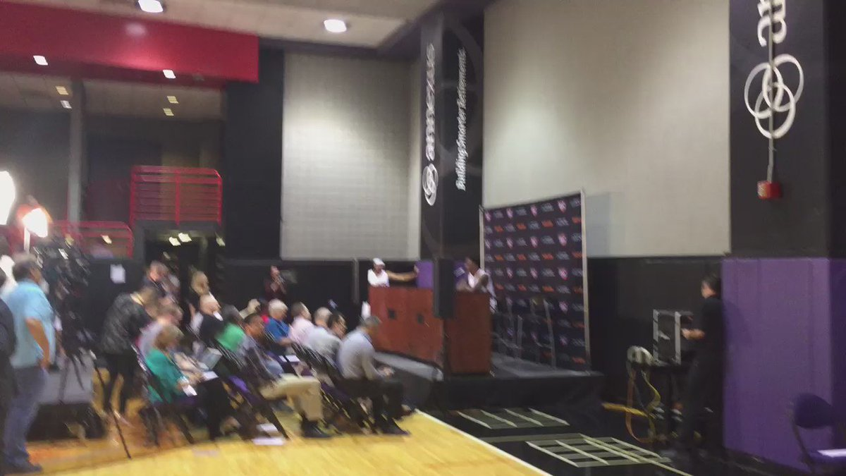 Welcome to the madness that is Suns media day! Eric Bledsoe is at the podium with Jared Dudley on deck.