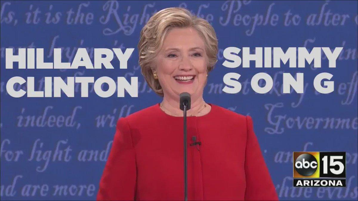 ♫ The Hilary Shimmy Song ♫  Probably my fav moment.  cc @GlennF @moiseschiu @samsanders @xeni https://t.co/wGDOickh8f