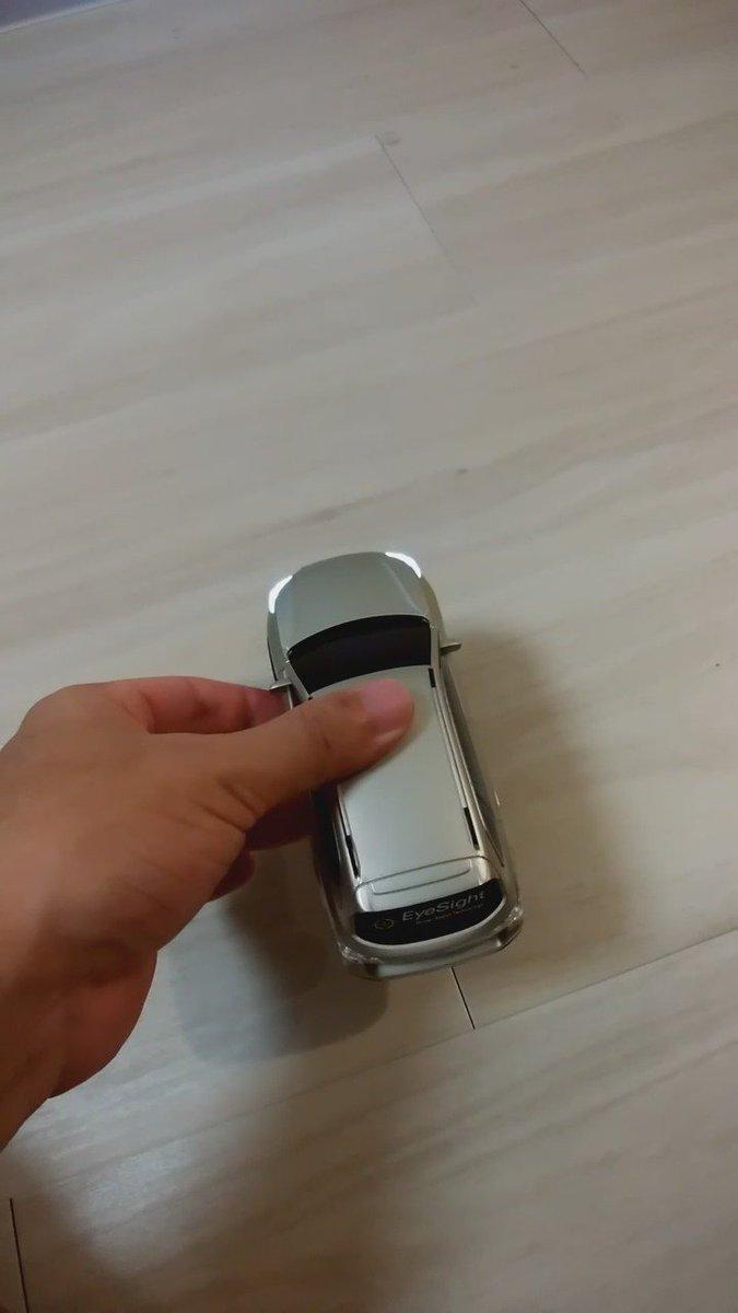 アイサイト体験会でもらったミニカーがまさかのアイサイト対応 pic.twitter.com/A5SBi6F43J