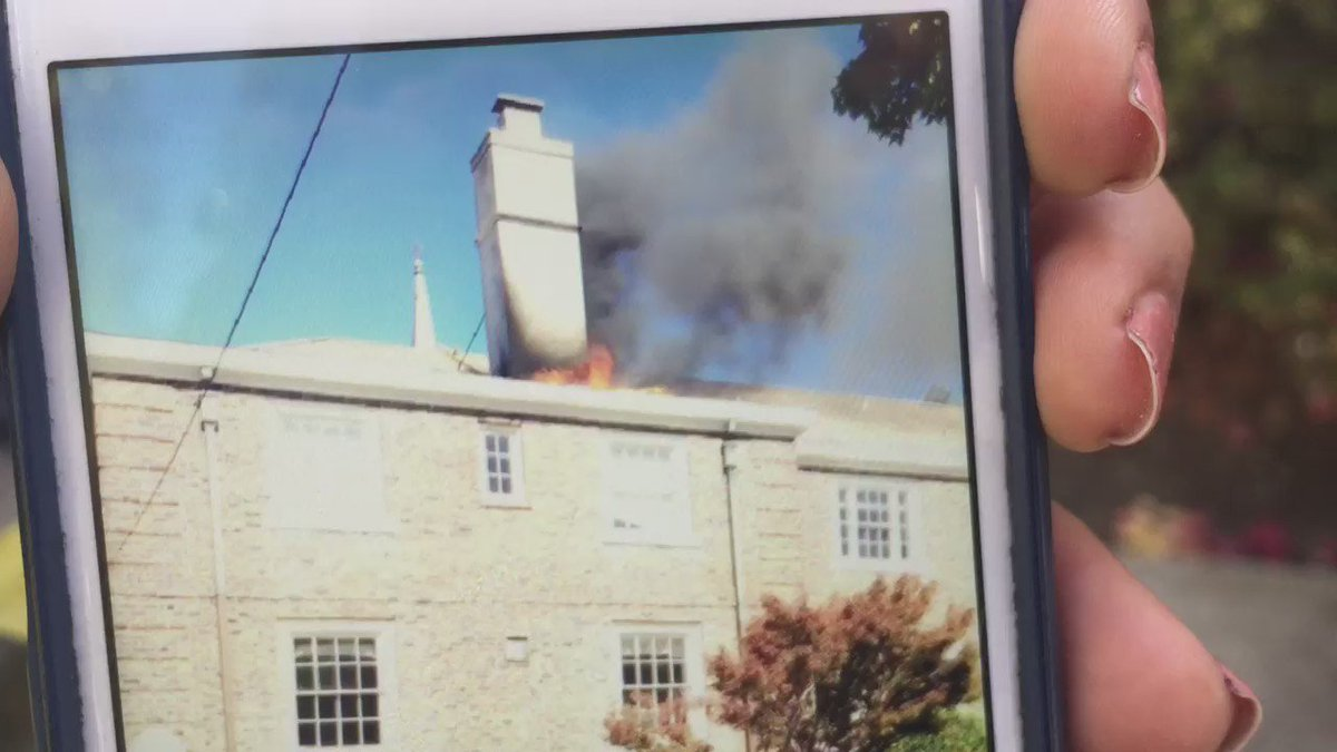 DEVELOPING This video taken by passerby shows Berkeley church fire as it was starting. She called 911.