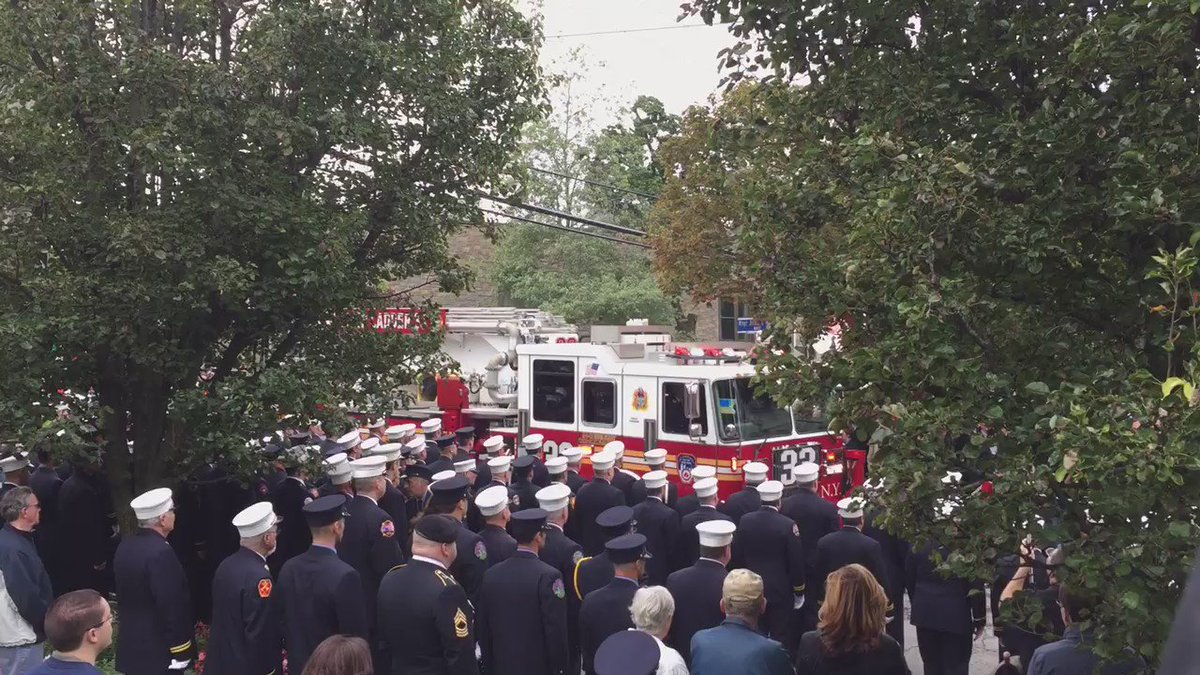 A courageous leader killed in the line of duty, hundreds are gathering to honor FDNY Deputy Chief MichaelFahy.