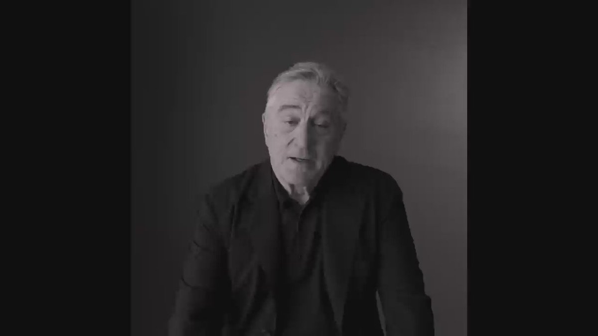 Everyone needs to watch Robert De Niro giving his views on Trump at least 20 times today! #VoteDeNiro https://t.co/X6fKLqHkOL