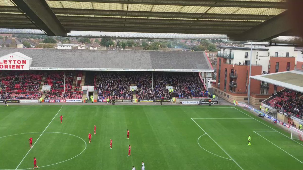 Magnificent vocal support from #Pompey's travelling 1,328 at Orient today. See for yourself. Everywhere we go...... https://t.co/eZ8dQBwJrG