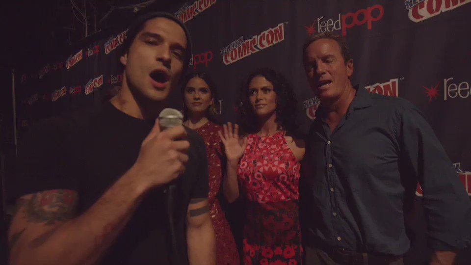 .@tylergposey and @MTVteenwolf have a message for #NYCC Fans! We can't believe the show is ending.