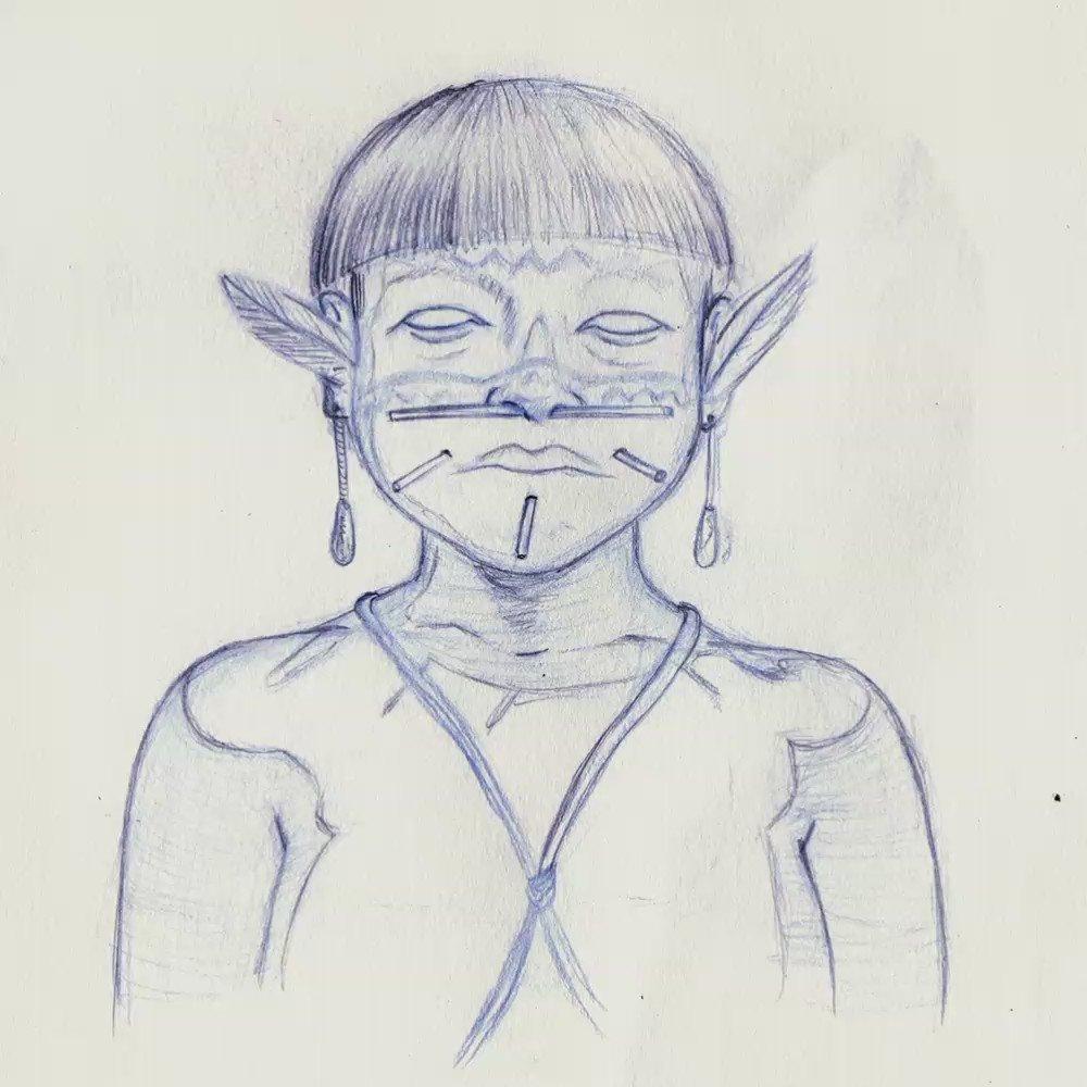 Dibujo a tinta sobre papel. #12octubre #...