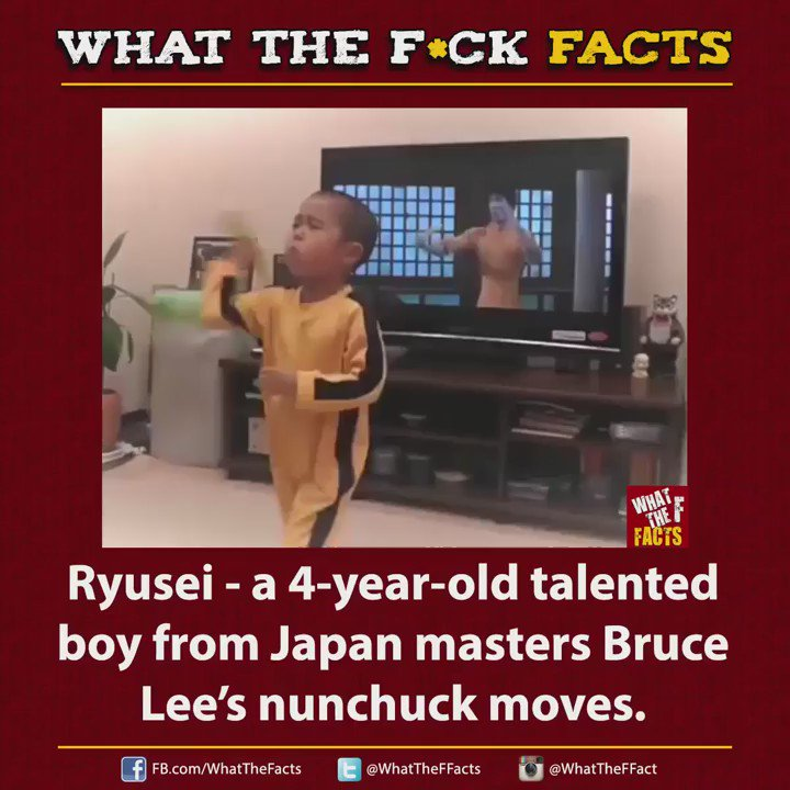 Bruce Lee in making!