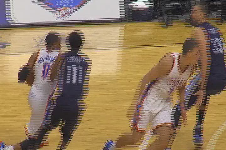 Russell Westbrook and Marc Gasol scuffle. #Thunder https://t.co/9AeVbvJGXg