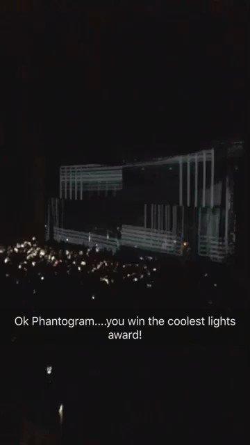 I'm calling it now...best light show of 2016 belongs to @Phantogram !  #HalloweenieRoast https://t.co/GLjNfuRrNa
