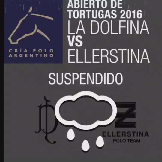 SUSPENDIDA La Final del #AbiertodeTortugas  @LaDolfinaok Vs @EllerstinaPoloT https://t.co/HbLiQAE0wm