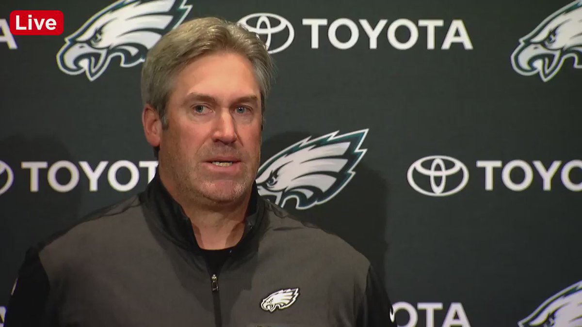 Wow. Eagles fans were relentless when Doug Pederson spoke about Big V's performance yesterday. https://t.co/o4WWeAZ4ci