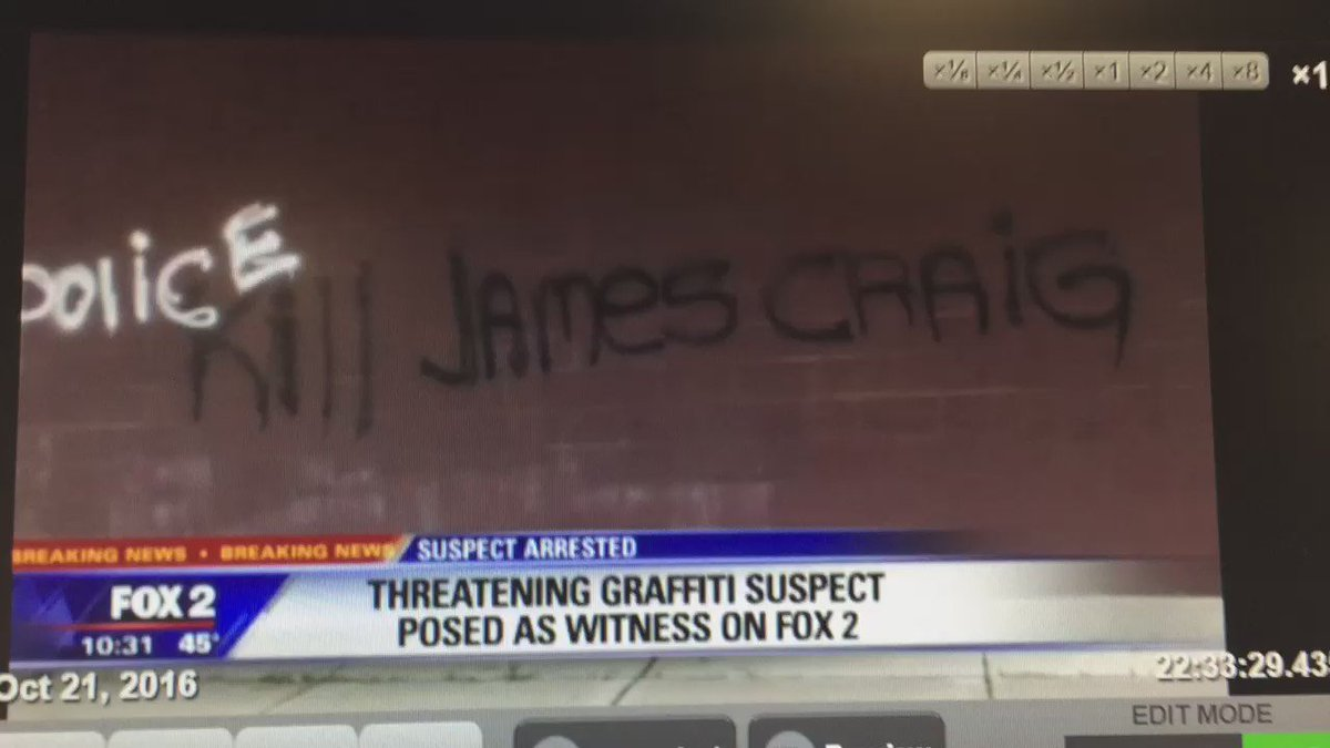 Threatening Detroit police graffiti suspect posed as witness with our @TarynAsherFox2 story