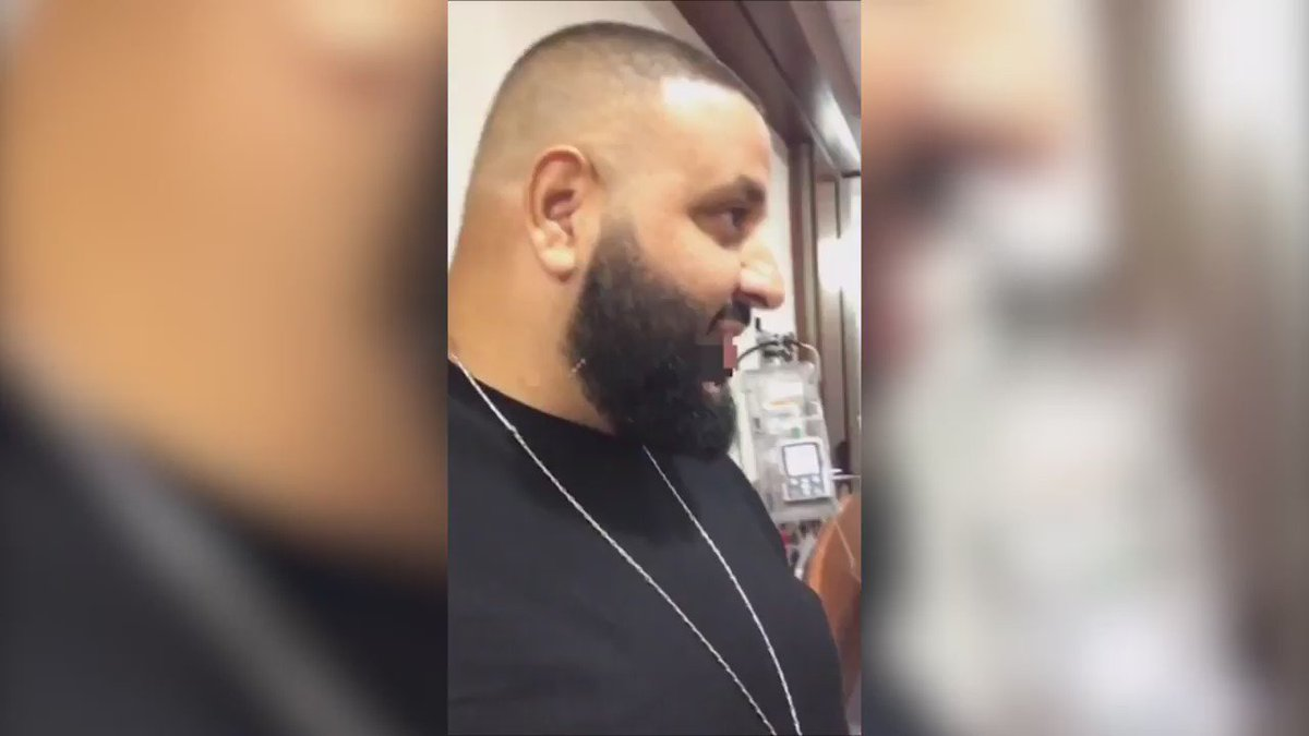 DJ Khaled Snapchatted from the delivery room while his son was being born.