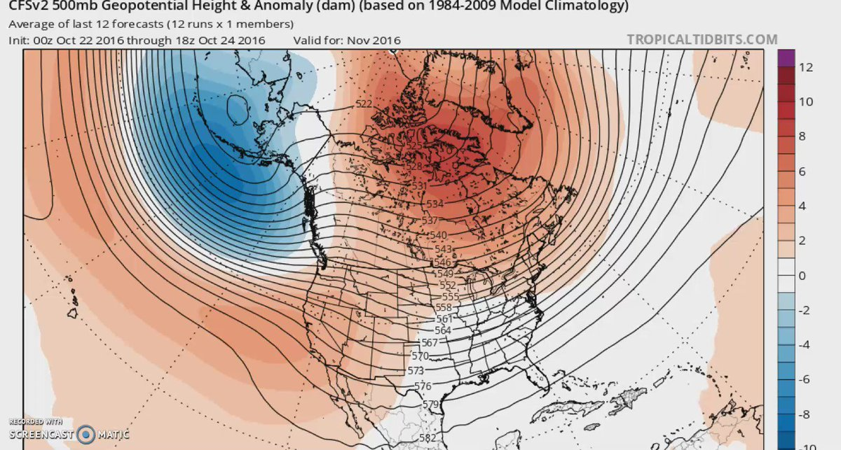 Our climate model goes WILDLY cold going into the next 3 months! @FOX29philly