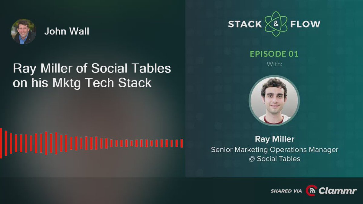 Ray Miller of Social Tables on his marketing tech stack via @ClammrApp  https://t.co/DjWVScjodj https://t.co/LPoY6NqpvT
