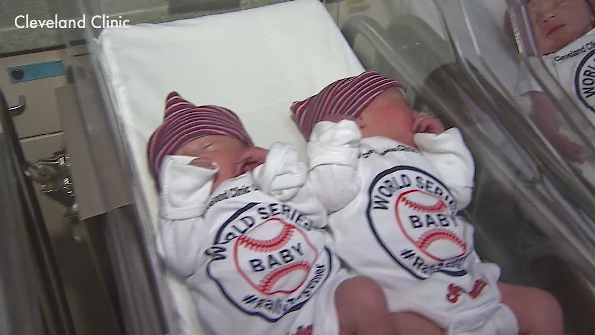 These newborns are already cheering for the Cleveland Indians