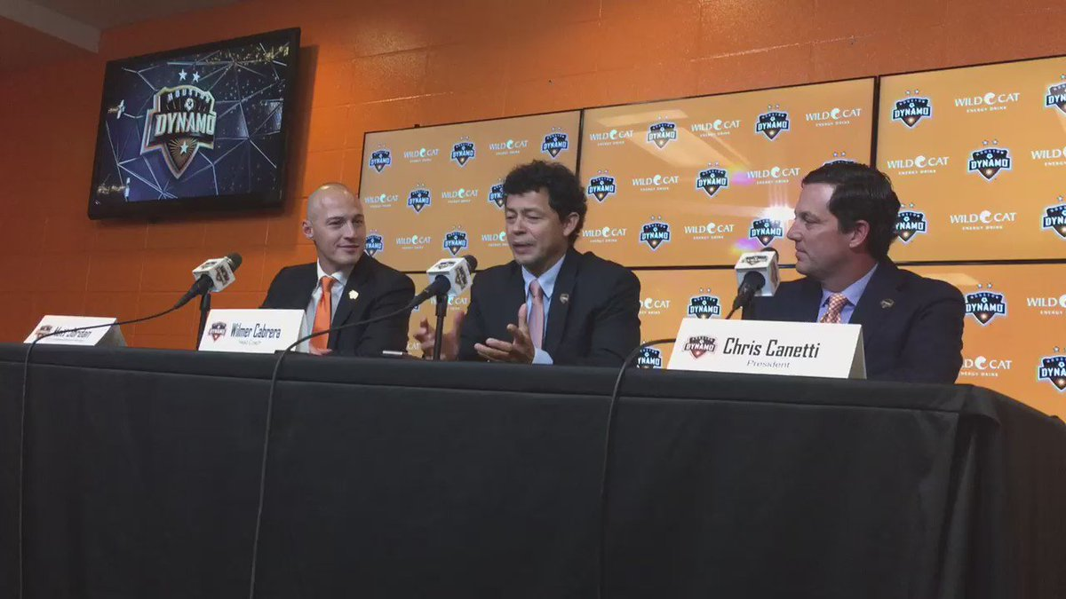 Wilmer Cabrera says he's ready to take over as head coach of the @HoustonDynamo