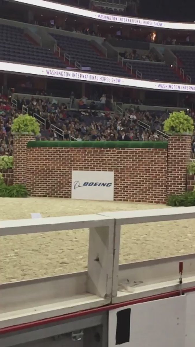 Mclain Ward and Aaron Vale tie for first at the height of 7 feet!!!   (Below is Mclain & ZZ Top clearing the wall!) https://t.co/oCCvtwmfk3