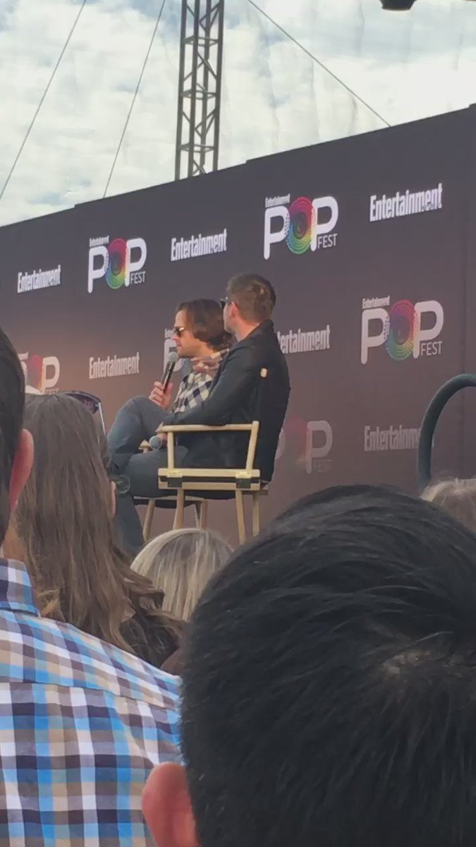 .@JensenAckles and @jarpad say scripts now invite them to improv because writers trust them #EWPopFest #supernatural https://t.co/9I8jg2GK37
