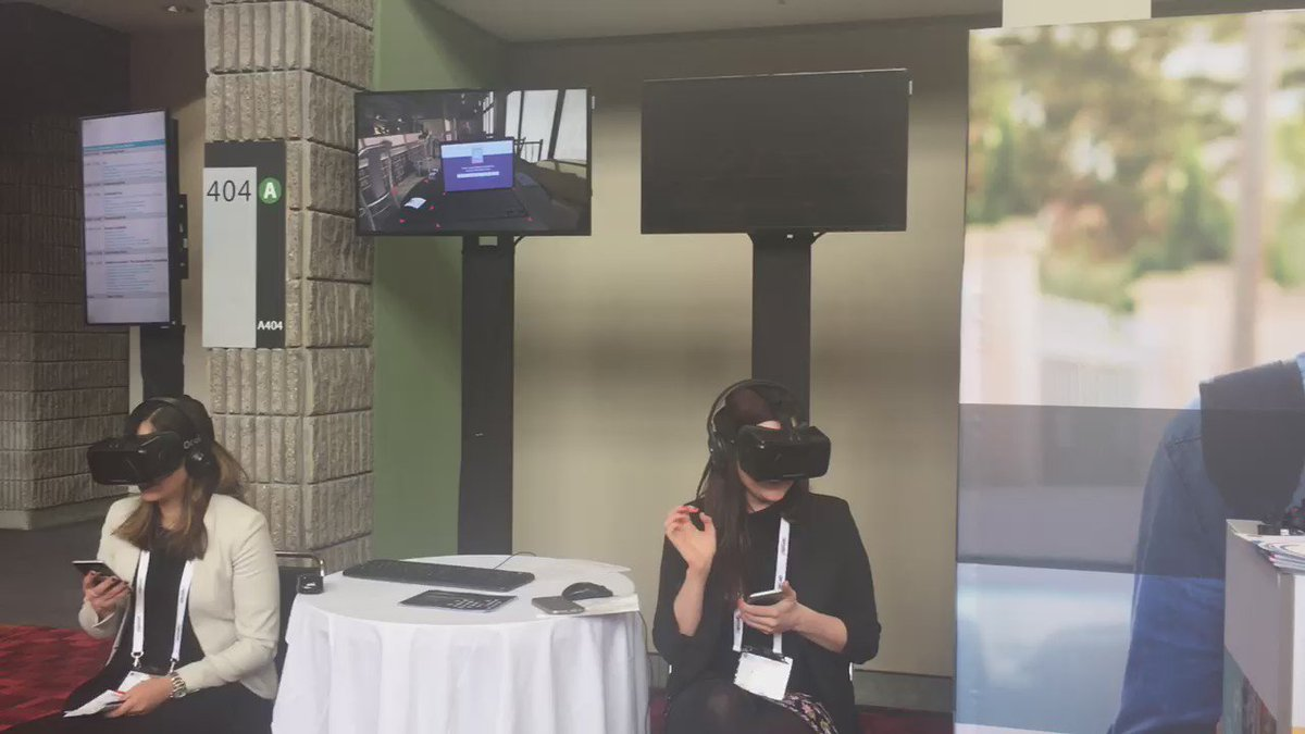 The #ConnectedLiving #VR demo is very popular at #GSMAMobilityLive. Try it at the showcase area today