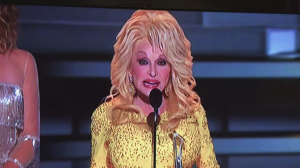 The line of the night from Dolly Parton #CMAawards50 https://t.co/4dJoHZLMth