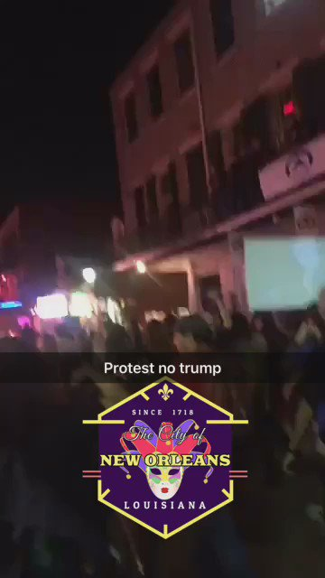 I didn't expect this to happen while I was in #NewOrleans but it was perfect timing #notmyprsident https://t.co/aZCJjBdV1Y