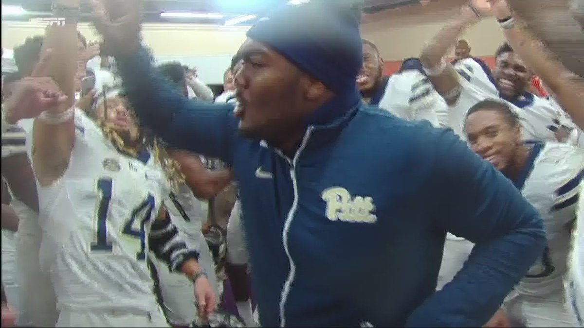 The Pitt locker room is SO HYPE!!! https://t.co/H0V2EdWI7p