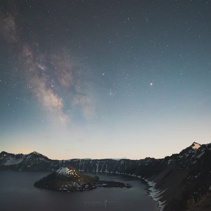 This startrail #timelapse of Crater Lake, Oregon spans about 5 hrs & is over 500 long exposures images https://t.co/mXr1JQQlh8 RT @shainblum
