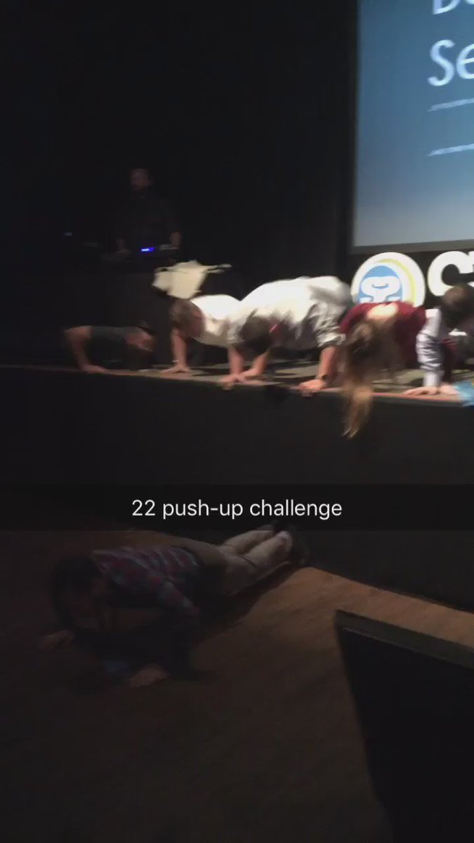 22 push-up challenge at #STATEOFSEARCH https://t.co/qcjlmSpQuN